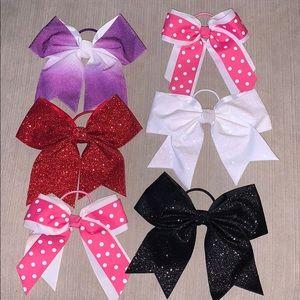 Cheer Dance Large Hair Bow Bundle